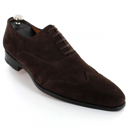 Chaussure cuir daim marron homme - Aby