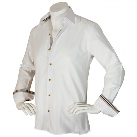 Chemise blanche italienne oxford - Elisa