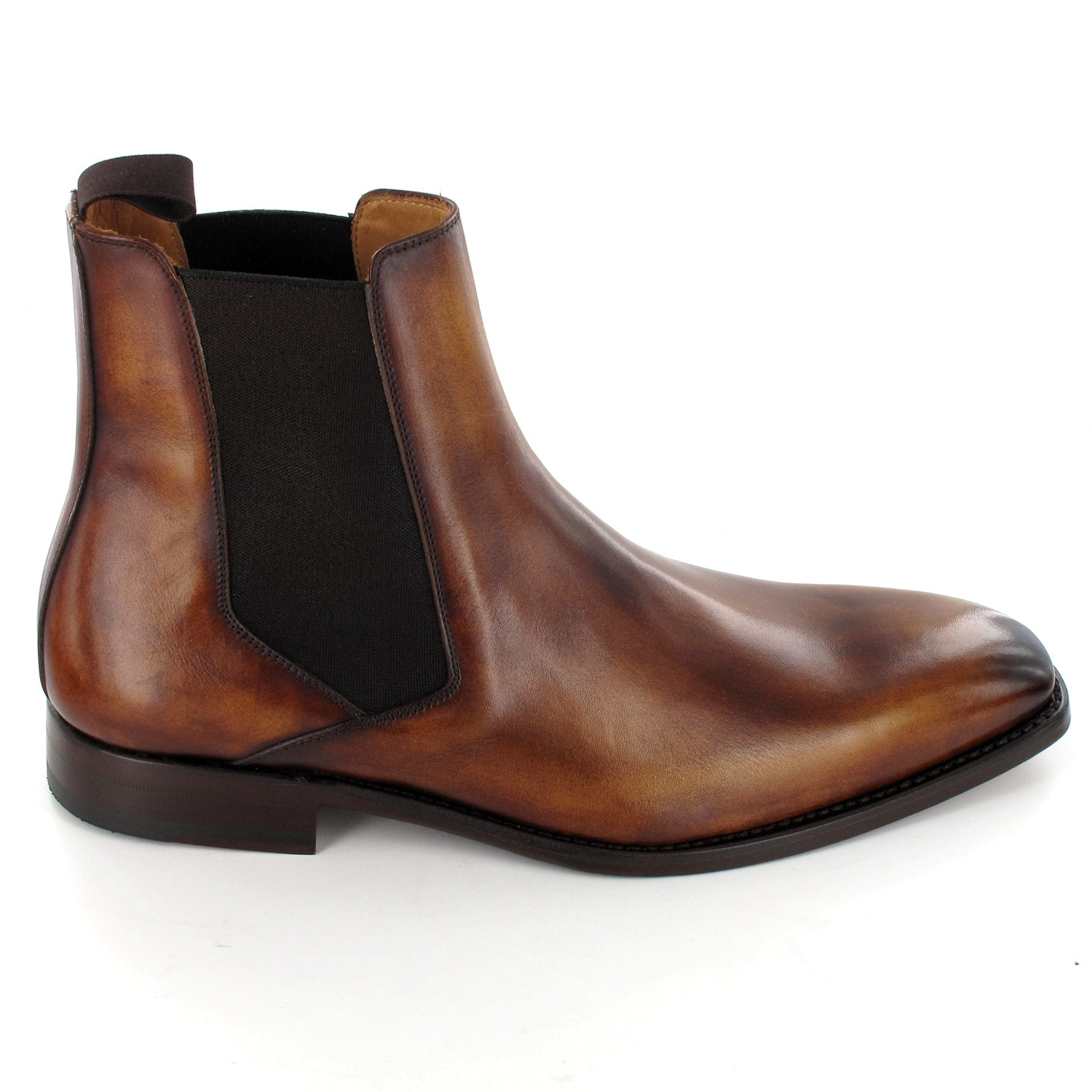Luxe Patiné De Bottines Pour Marron Homme lK1cFTJ